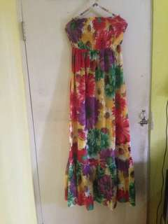 Dress kemben bunga