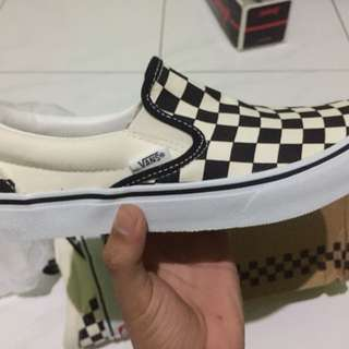 Vans checkerboard slip on japmar