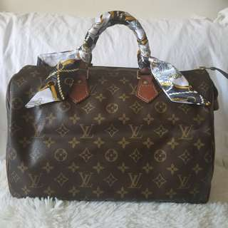 Authentic Louis Vuitton Monogram Canvas Speedy 35