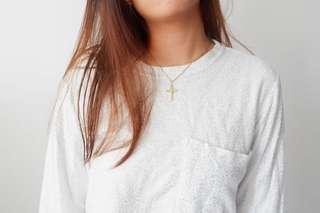 Silvery white sweater