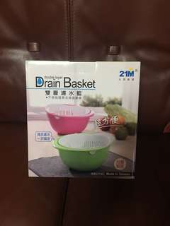 Drain Basket雙層濾水藍