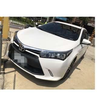 2016年ALTIS  X白色  跑2萬   大桃園優質二手中古車買賣