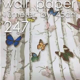 Butterfly Designe Wallpaper Self Adhesive C247
