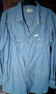 Kemeja jeans Wrangler Original