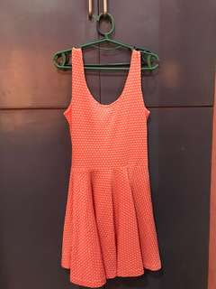 Casual Dress (color: Coral)