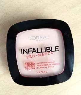 L'Oréal infallible pro-matte face powder
