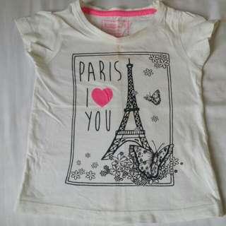 Paris i ❤ u tshirt (2-3y)