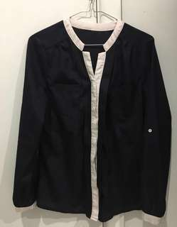 Navy blouse AU 8-10