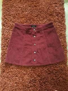 Forever 21 Maroon Skirt size 27 US