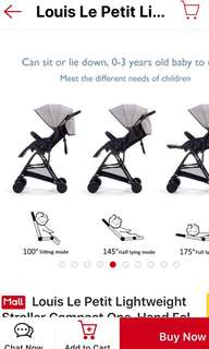 Compact stroller louise de petit