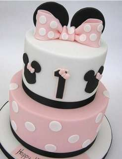 Customised Cake / Mickey Mouse Minnie Mouse/ 2tier