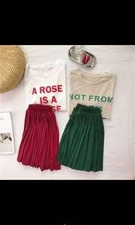 🚚 Fancy 夏款小女孩套裝 百褶裙