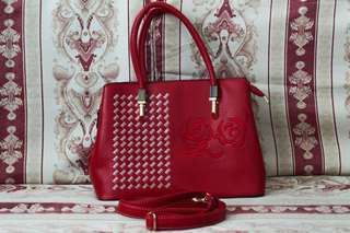 Red two-way (hand & sling) bag