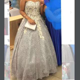 Silver / Gray Ball Gown for RENT