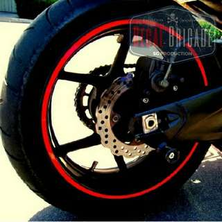 Fz16 Reflective Red Rim Decal