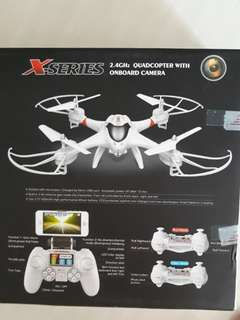 X-Series Quadcopter with onboard camera (See description for specs)