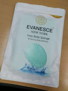 Free Normal Mail‼️Evanesce New York Ivory Instant Whitening Body Sponge