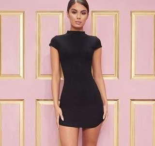 [BNWT] PLT Black High Neck Ribbed Bodycon Dress