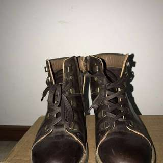 Moschino Dutti Leather Boots