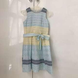 Dress Anak Plaid