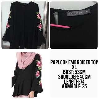 Poplook Embroidery Top