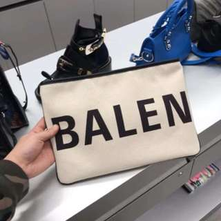 Balenciaga canvas clutch bag 手提包