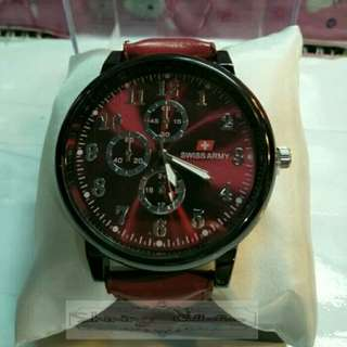 jam tangan pria fashion swiss army