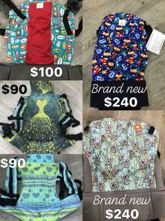 Various baby carriers for sale