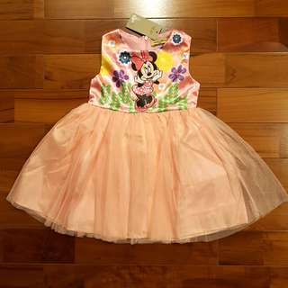 Tutu dress minnie peach