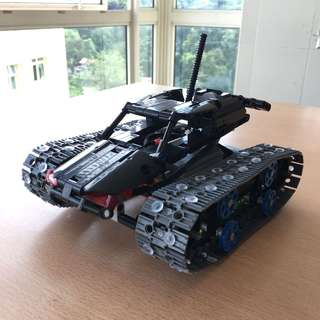 *Ready*Overall Black LEGO Technic 42065, RC Tracked Racer, MOC, remote control, DIY, LEGO mixed LEPIN Technic