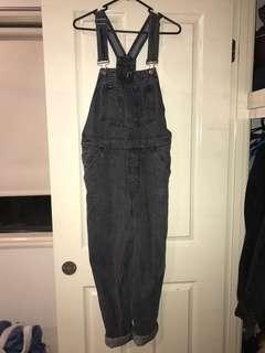 RVCA Black Denim Overalls Size 8