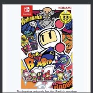 BNIB Super Bomberman R English Nintendo Switch
