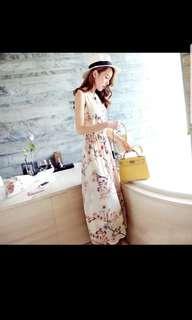 Summer Chiffon dresses floral boho summer dress sundress holiday beach dress