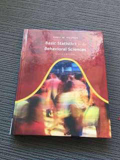 Basic Statistics for the Behavioural Sciences, sixth edition- Gary W. Heiman