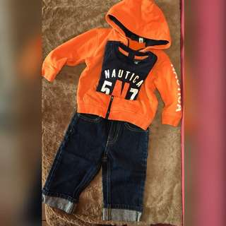 baby set ootd 12 months
