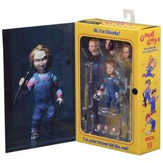 。NECA 鬼娃恰吉Ultimate Chucky 可動公仔模型。