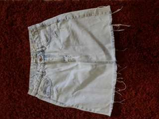 Pull & Bear Ripped Skirt size 28