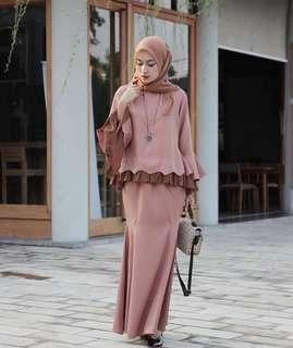 NEW baju kurung kondangan lebaran long dress amolle gallery