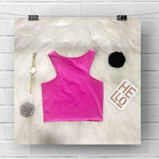 Pink cropped top