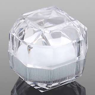 1Pc Transparent Acrylic Ring Display Box Storage Organizer Gift Jewelry Case