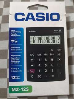 CASIO MZ-12S ELECTRONIC CALCULATOR