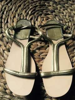 Zara strap sandal gold
