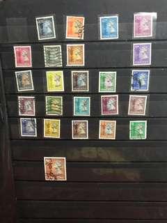 女皇頭郵票 24張