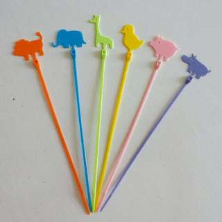 Cute Colourful Animal Cable Ties 24Pcs