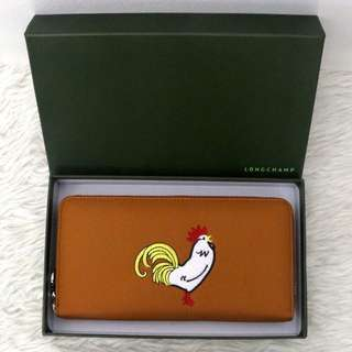 Authentic longchamp rooster wallet