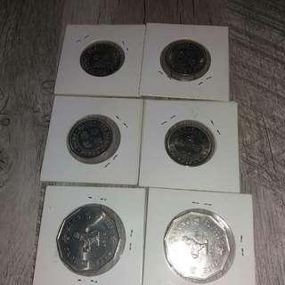 閃令令十角形5元及銀5毫