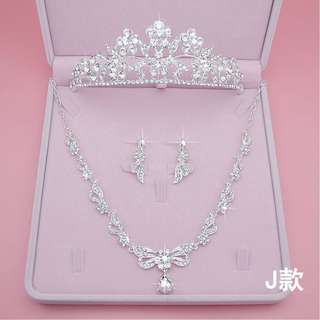Wedding Collection - Combo Wedding Jewelry Sets with Crown