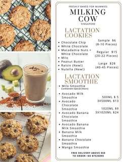 Milk boosting lactation cookies
