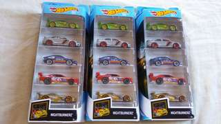 Hot Wheels 5 Pack Nightburnerz 50 Anniversary 2018