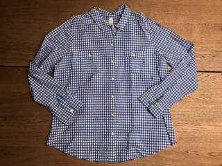 Old Navy Blue Gingham Poll